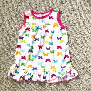 Carter's Girls Butterfly Nightgown Pajama 24 Month